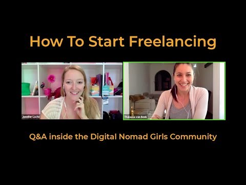 How To Start Freelancing - Live Q&A with Digital Nomad Girls
