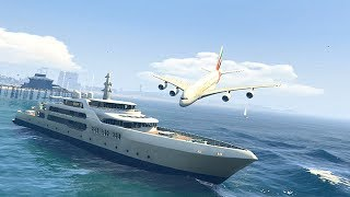 GTA 5 - Amazing\terrible PLANE CRASH Compilation #8