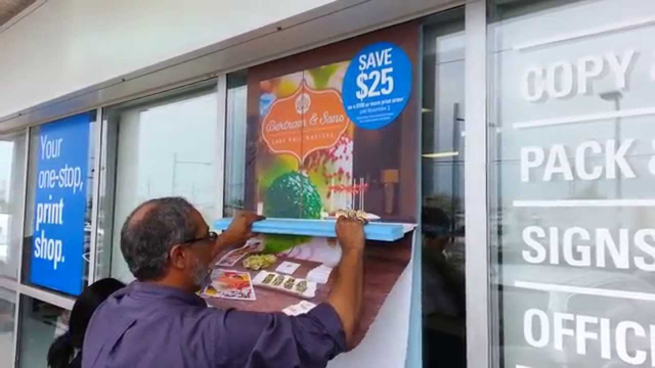 window signage adhesive vinyl mounting youtube