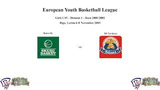 Skuru Basket (Sweden) vs BS Nevskaya (Russia) - EGBL - 2015-11-07