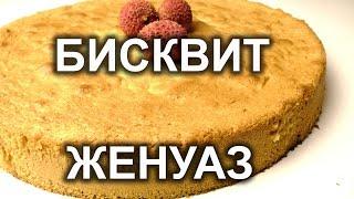 Бисквит масляный  ЖЕНУАЗ. Урок 23.