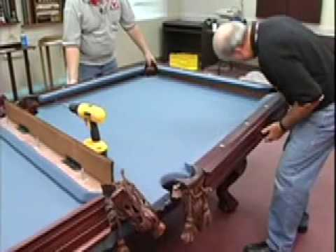 How To Install A Pool Table Pockets And Rails Home Billiards - Pool table side panels
