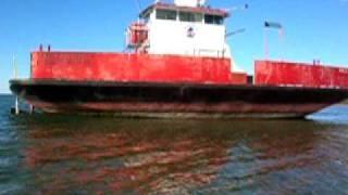 Car Ferry Joelle Ann Marie, Hard Aground in Duncan Bay