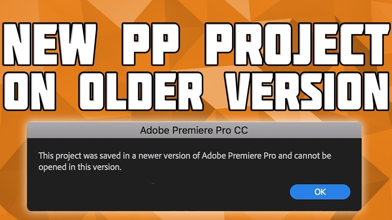 Open a New Premiere Pro Project on an Older Version[Mac]! Downgrade a  Premiere Pro Project!