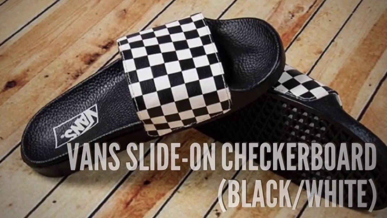 a0d599d7ce1 VANS SLIDE-ON CHECKERBOARD (BLACK WHITE)  SNEAKERS T - YouTube