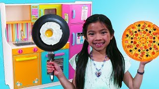 Emma Pretend Cooks w/ Cute Kitchen & Food Truck Toy