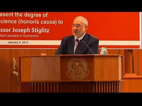 Distinguished Lecture by Nobel Laureate Prof. Joseph E. Stiglitz
