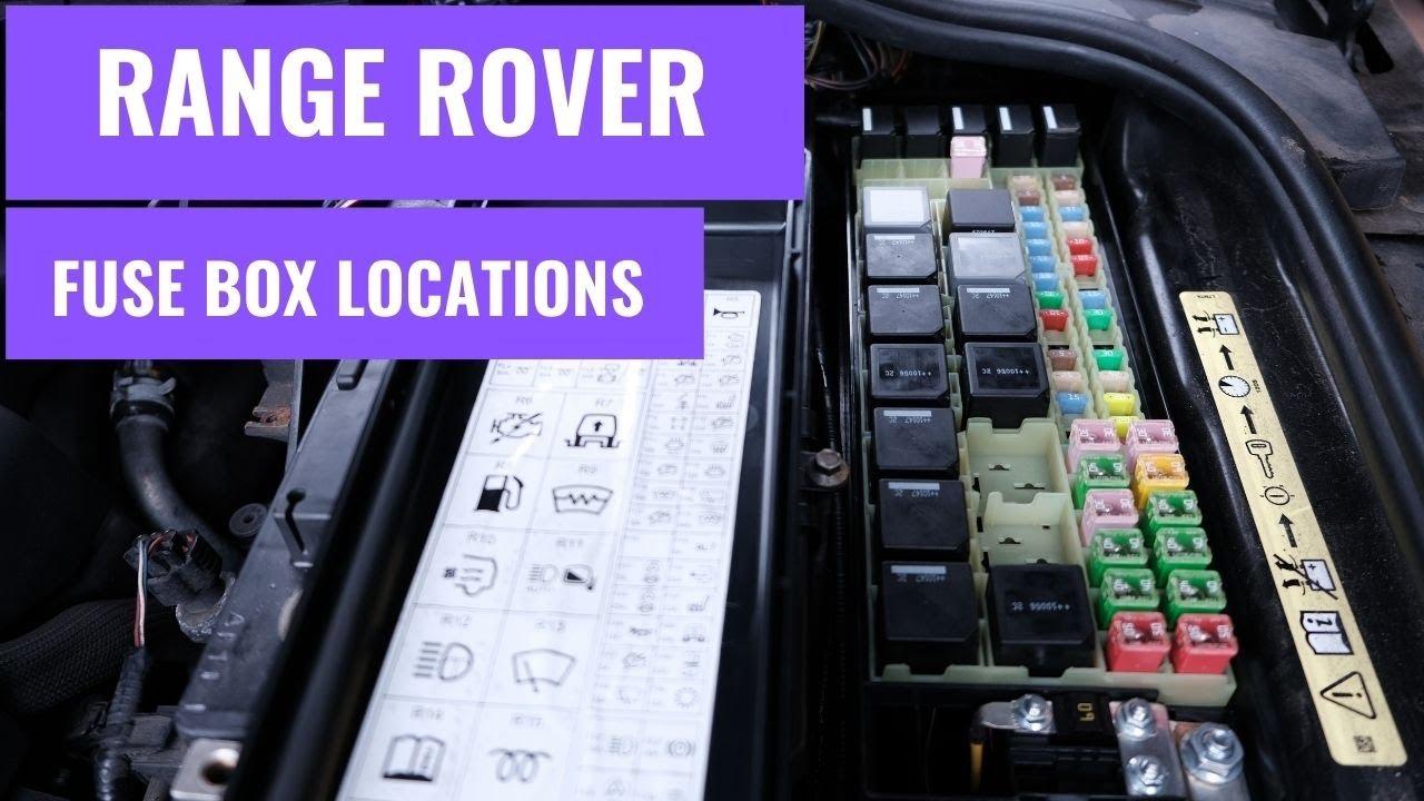 range rover sport l320 fuse box location. - youtube  youtube