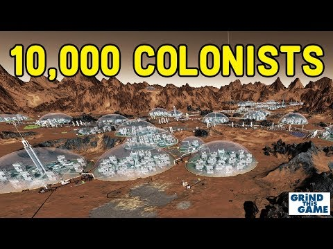 Surviving Mars - 10,000 COLONISTS! MAP FILLED. $2 TRILLION - Late Game Timelapse [4k]