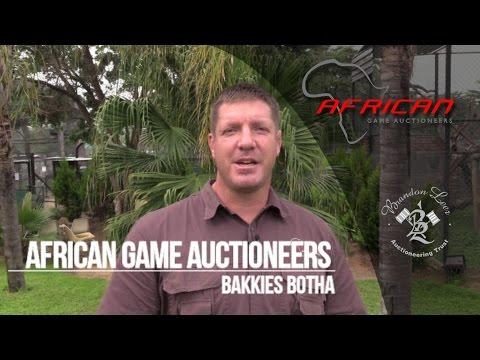 Bakkies Botha on African Game Auctioneers