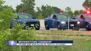 Father and son killed in semi crash on I-75