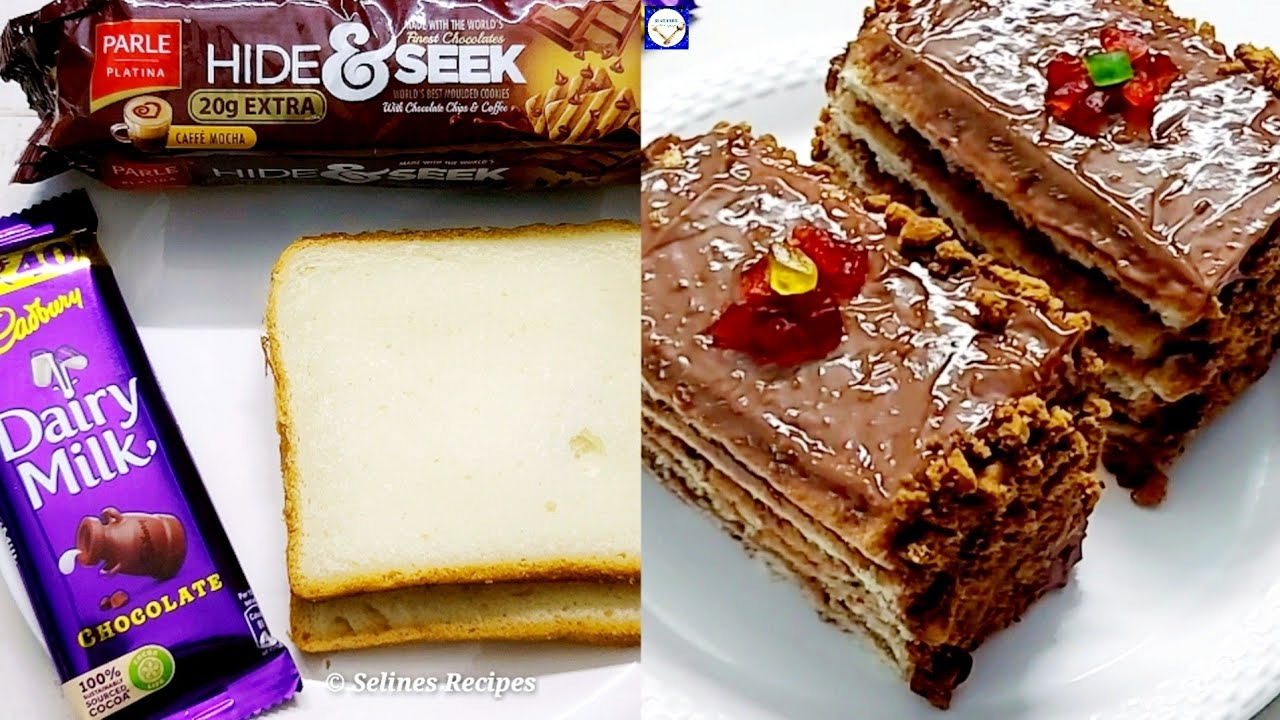 Chocolate Birthday Bread Cake Cake in 15 Minutes   Dairy milk bread Cake  Dairy milk pudding Cake  
