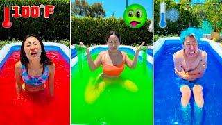 Last To Leave The ONE Color POOL Challenge Wins!!