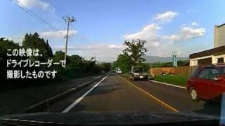 姫神山を望む国道4号線(2010-7-21 岩手・渋民)