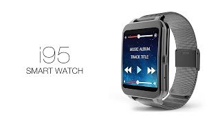 i95 smart watch android 4 3 call reminder wifi heart rate monitor bluetooth ip65 4gb smart watch