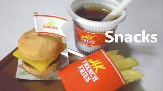 happy kitchen #4 - Mini Burger, French fries(In Japan, the patty itself is called a