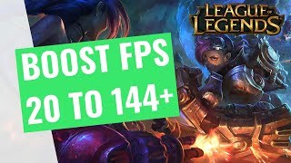 League of Legends Season 8 - How to BOOST FPS and performance on any PC!