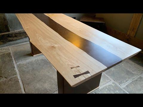 English Chestnut - Bronze Epoxy Resin Desk