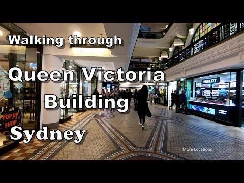 Queen Victoria Building (QVB) Shopping Centre To Town Hall Train Station | Sydney Australia