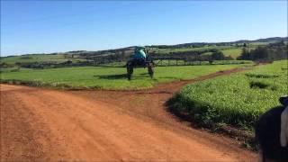 Aplicação de fungicida no trigo