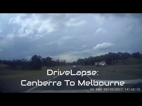 Dashcam Timelapse Drive: Canberra to Melbourne via Hume Highway for PAX Australia