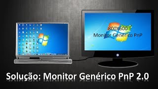 Como resolver o problema  do Monitor Genérico PnP 2.0? Windows 7 e 10