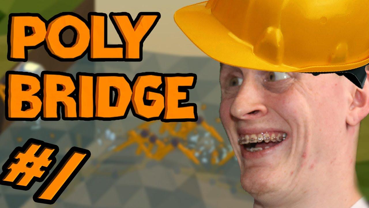 AM BRIDGE MECHANIC!? || Poly Bridge #1 (An Awesome Game!) - YouTube