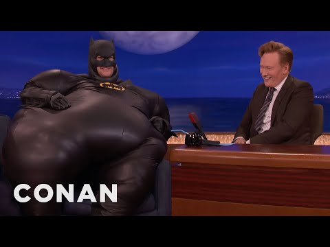 "Why Adam Pally Is Dressed Like ""Fatman""  - CONAN on TBS"