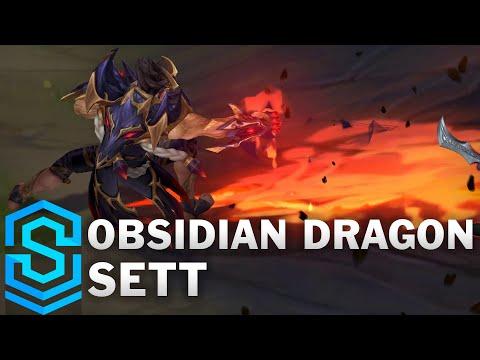 Obsidian Dragon Sett Skin Spotlight - Pre-Release - League of Legends