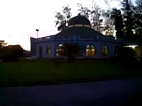 Maghrib adhan at the Barrackpore Islamic Centre