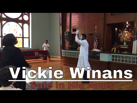 Vickie Winans- Safe in His Arms ( Beneal Smith Gospel Mime)!? Touching Performance