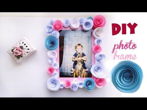DIY. Sweet Photo frame/ Рамка для фото, розы из бумаги