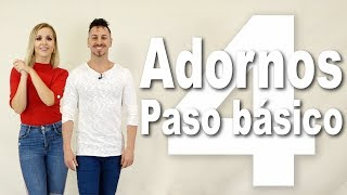 1.3 Adornos y técnica para el Paso Básico de BACHATA | Alfonso y Mónica | Como bailar bachata