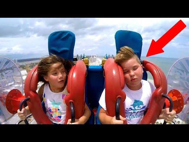 Kids Passing Out   Funny Slingshot Ride Compilation