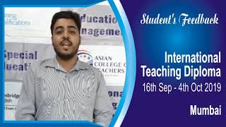 International Teaching Diploma - Know why ACT is widely recommended for this course