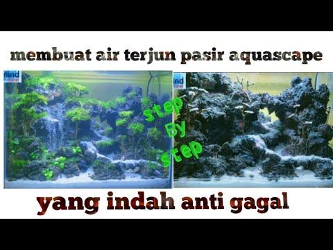 Cara membuat air terjun pasir aquascape part 2 - YouTube