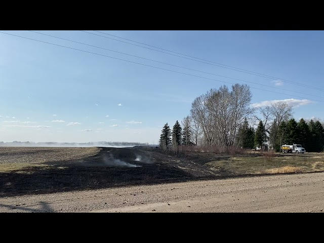 Saturday Afternoon Grand Forks County Garage-Grass Fire