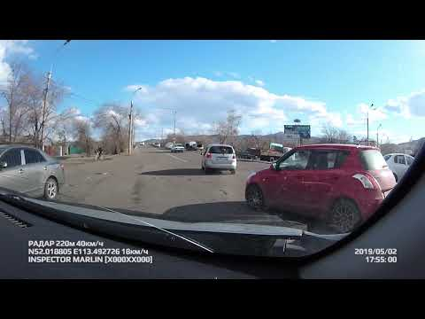 ДТП девушка на красном авто