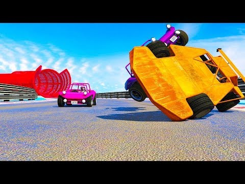 4-Player Tiny Racers Minigame - GTA V Online Funny Moments | JeromeACE