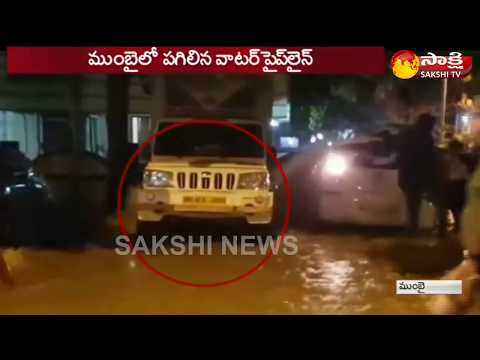 Mumbai - Water Exploding Out of Pipeline Throws Car in Air - Watch Exclusive