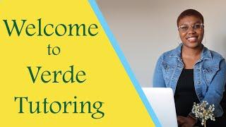 Welcome to Verde Tutoring