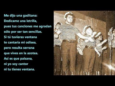 Comparsa. Los Hombres del Mar (1965) | Me dijo una Gaditana 'con letra' Audio del Falla