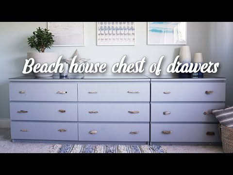 IKEA HACK - beach style MALM chest of drawers