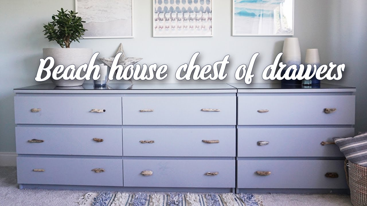 Ikea Hack Beach Style Malm Chest Of Drawers Youtube