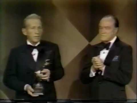 Bing Crosby Receives An Award From Bob Hope