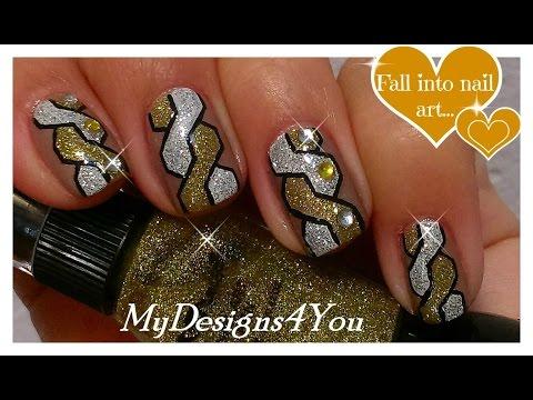 Braided Nail Art | How to Woven Nails | Gold & Silver Nail Design ♥ Плетеный Дизайн Ногтей Косичка