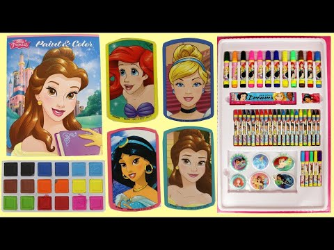 Disney Princess World of Art and Activity Play Set with Carry Case & Stickers