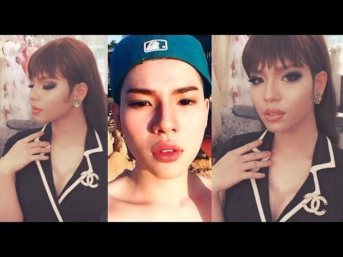 FULL BODY MALE TO FEMALE TRANSFORMATION - DOLL MAKEUP | Doovi