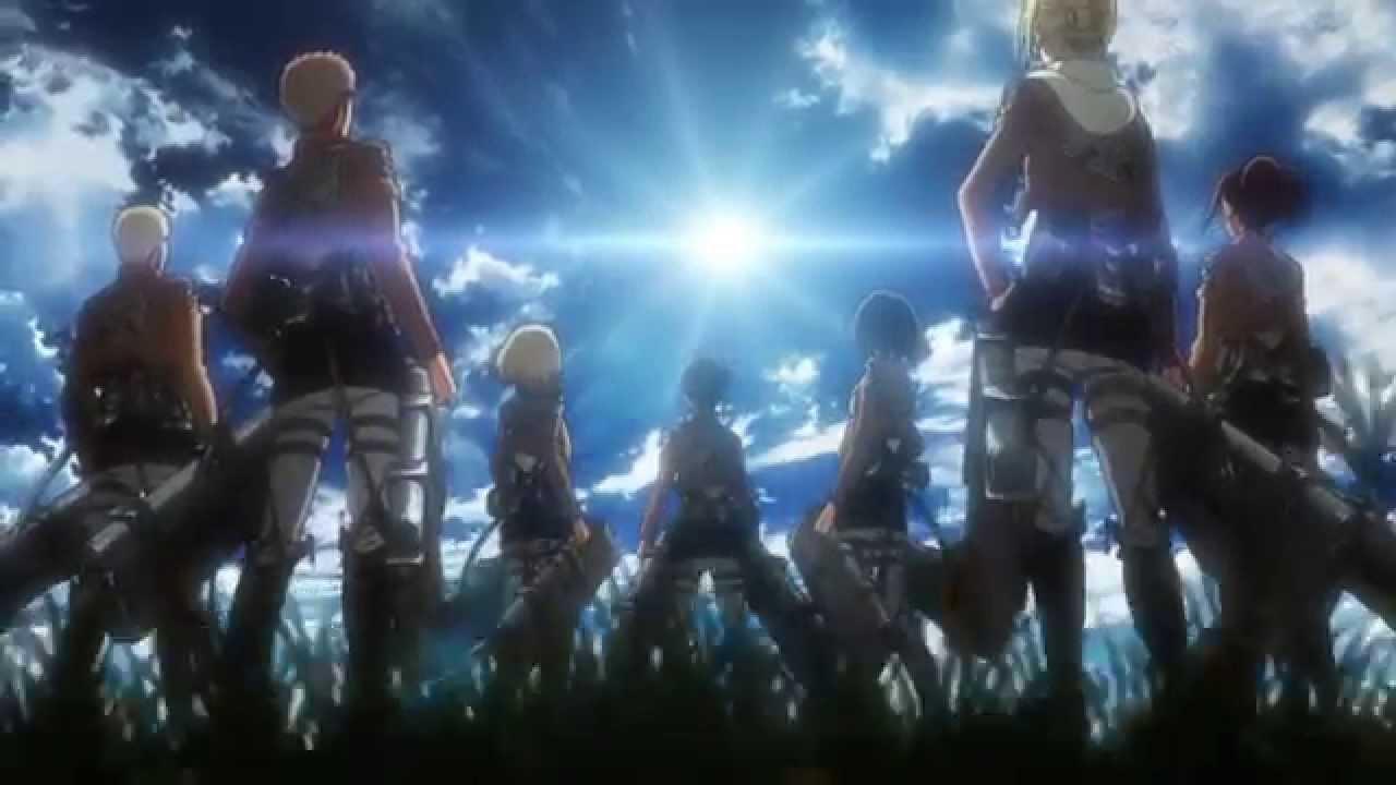 Shingeki no Kyojin Attack on Titan - Feuerroter Pfeil und Bogen (Opening) - YouTube