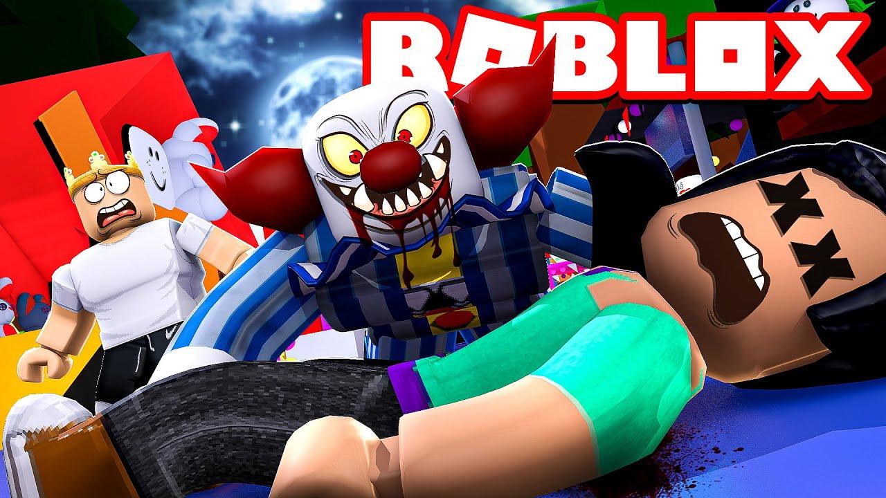Killer Clown Roblox Char Attacked By A Killer Clown Roblox Circus Trip Youtube